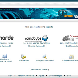 Webmails Horde, RoundCube e Squirrelmail